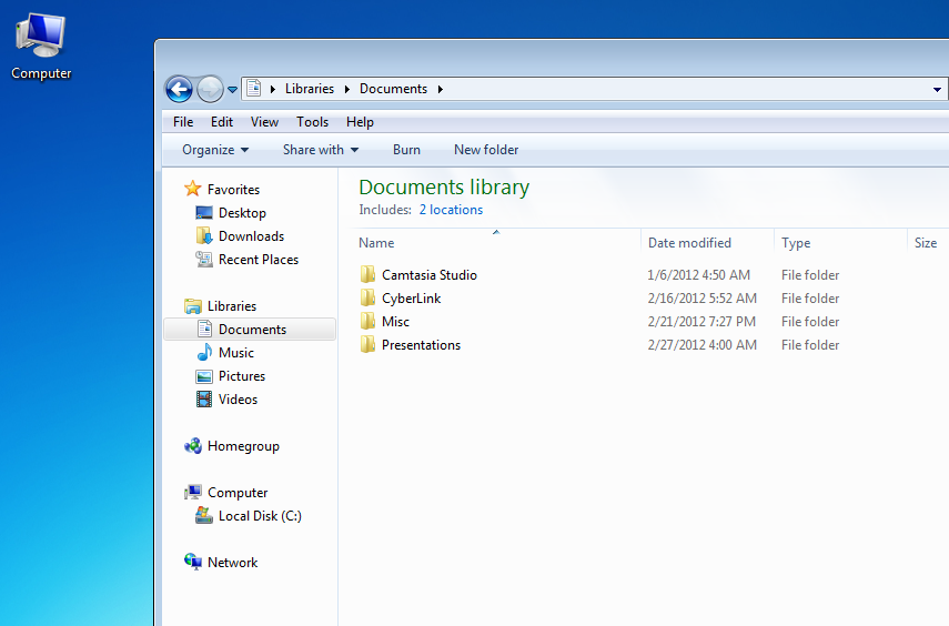 Image of the windows-explorer