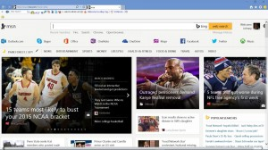 Internet Explorer within Windows 10 Screenshots