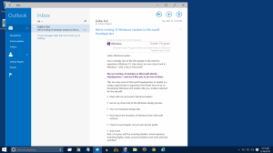 Outlook Web Mail in Windows 10 Screenshots